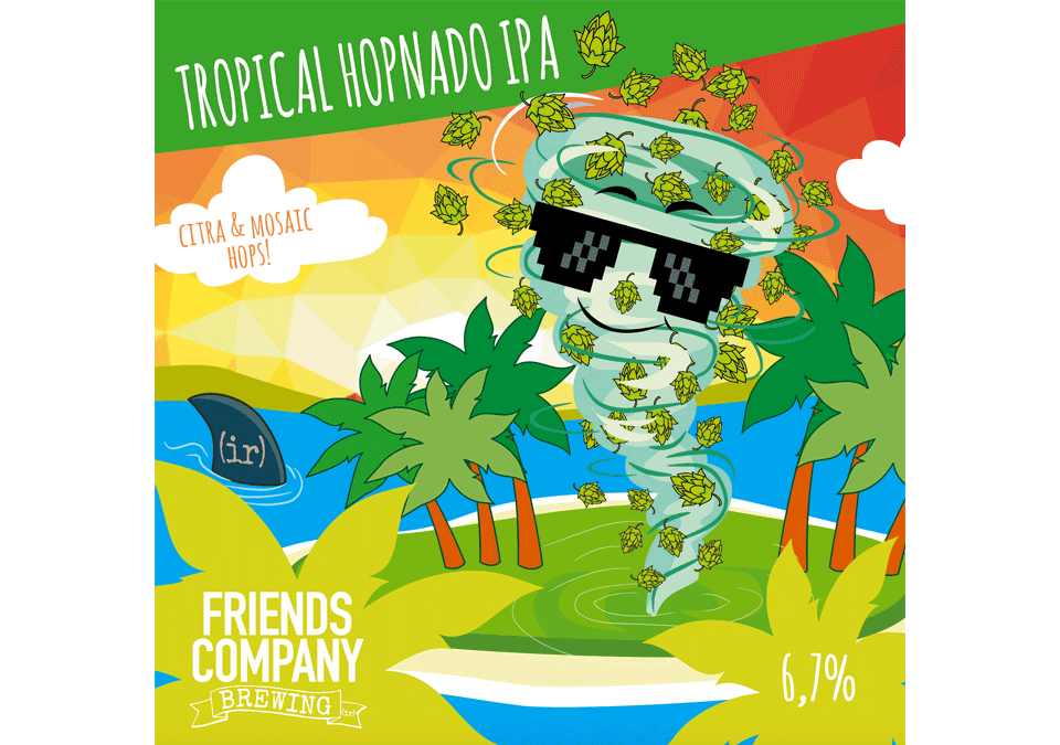 Friends Company Tropical Hopnado IPA 6,7% Receptkit