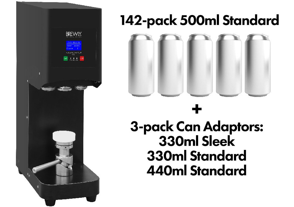 Brewly ACS-1 Automatic Can Sealer - Can Kit 4